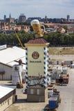 Accumulazione delle tende di Oktoberfest a Theresienwiese a Monaco di Baviera, 20 Fotografie Stock Libere da Diritti