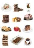 Accumulazione delle torte e dei dolci di cioccolato Immagine Stock Libera da Diritti