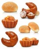 Accumulazione delle torte e del croissant dolci di immaginazione Immagini Stock Libere da Diritti