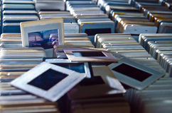 Accumulazione delle trasparenze della famiglia Fotografia Stock
