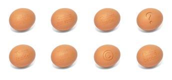 Accumulazione delle uova con inciso Immagini Stock