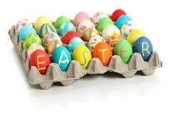 Accumulazione delle uova di Pasqua Immagini Stock