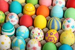 Accumulazione delle uova di Pasqua Fotografia Stock