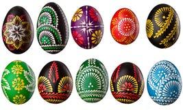 Accumulazione delle uova di Pasqua decorative Immagine Stock
