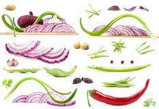 Accumulazione delle verdure Immagini Stock