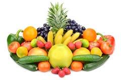 Accumulazione delle verdure e delle frutta Fotografia Stock