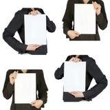 Accumulazione dello spazio in bianco delle schede Immagine Stock