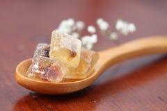 Accumulazione dello zucchero - caramelle marroni Fotografia Stock Libera da Diritti