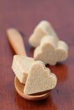 Accumulazione dello zucchero - vestito marrone della scheda Immagine Stock