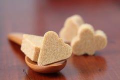 Accumulazione dello zucchero - vestito marrone della scheda Fotografia Stock