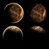 Accumulazione di alcune viste differenti di un pianeta illustrazione vettoriale