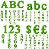 Accumulazione di alta risoluzione della fonte tipografica dell'erba Immagini Stock Libere da Diritti