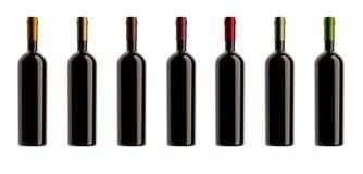 Accumulazione di bottiglie di colori delle capsule Fotografia Stock