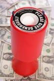 Accumulazione di carità con i dollari americani Fotografia Stock Libera da Diritti