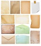Accumulazione di carta dell'annata. Immagine Stock