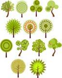 Accumulazione di clip-arte dell'albero immagine stock libera da diritti