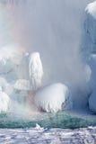 Accumulazione di ghiaccio del cascate del Niagara, un inverno di 2015 Fotografia Stock
