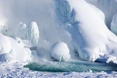 Accumulazione di ghiaccio del cascate del Niagara, un inverno di 2015 Immagine Stock Libera da Diritti