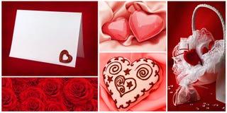 Accumulazione di giorno del `s del biglietto di S. Valentino Fotografia Stock Libera da Diritti