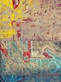 Accumulazione di Grunge dei graffiti Immagini Stock