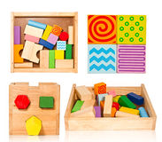 Accumulazione di legno del giocattolo Immagini Stock