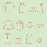 Accumulazione di modo dei vestiti Fotografie Stock