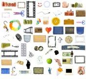 Accumulazione di molti oggetti fotografia stock libera da diritti