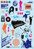 Accumulazione di musica Fotografie Stock Libere da Diritti