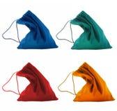Accumulazione di piccoli sacchetti di colore Fotografia Stock Libera da Diritti