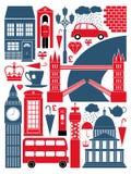 Accumulazione di simboli di Londra Fotografie Stock