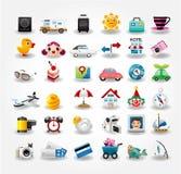 Accumulazione di simbolo delle icone di corsa Immagini Stock Libere da Diritti