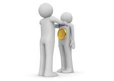 Accumulazione di stile di vita - Honouring con la medaglia Immagini Stock Libere da Diritti