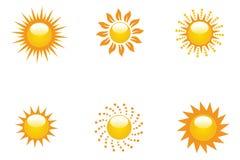 Accumulazione di Sun Immagini Stock