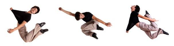 Accumulazione di un salto dell'uomo Immagini Stock Libere da Diritti