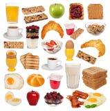 Accumulazione di vari tipi di prime colazioni Immagini Stock