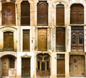 Accumulazione di vecchi portelli di entrata francesi Immagine Stock Libera da Diritti