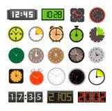 Accumulazione differente degli orologi Fotografia Stock
