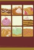 Accumulazione disegnata a mano del dessert Immagini Stock Libere da Diritti