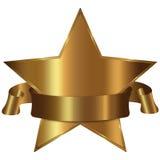 Accumulazione dorata della stella Fotografie Stock