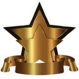 Accumulazione dorata della stella Immagine Stock