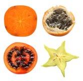 Accumulazione esotica della frutta Fotografia Stock