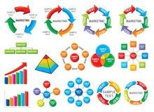 Accumulazione grafica dello schema di affari Fotografia Stock Libera da Diritti