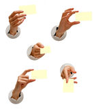 Accumulazione isolata delle mani Immagini Stock Libere da Diritti