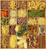 Accumulazione italiana della pasta Immagini Stock