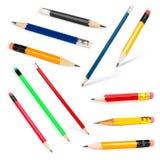 Accumulazione lunga e breve delle matite Fotografie Stock Libere da Diritti