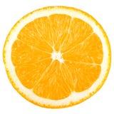 Accumulazione a macroistruzione dell'alimento - fetta arancione Fotografie Stock Libere da Diritti