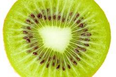 Accumulazione a macroistruzione dell'alimento - fetta del Kiwi Fotografie Stock