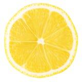 Accumulazione a macroistruzione dell'alimento - fetta del limone Fotografia Stock
