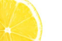 Accumulazione a macroistruzione dell'alimento - fetta del limone Immagine Stock
