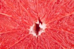 Accumulazione a macroistruzione dell'alimento - struttura del pompelmo Fotografia Stock